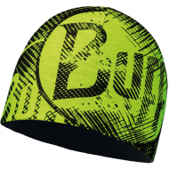 Шапка BUFF MICROFIBER & POLAR HAT LOG US YELLOW FLUOR